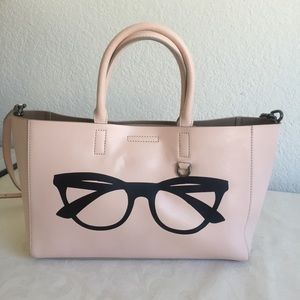 Nana republic pink leather tote